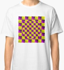 MODERN ILLUSION: Abstract Psychedelic Print Classic T-Shirt
