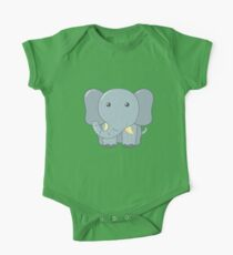 Cute Elephant for Kids One Piece - Short Sleeve