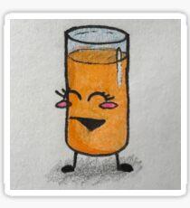 Orange Juice Gal Sticker