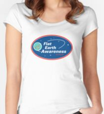 Flat Earth Awareness Fitted Scoop T-Shirt