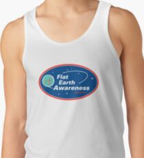 Camisetas de tirantes para hombre Conciencia plana de la tierra