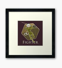Dungeons and Dragons Fighter Framed Print