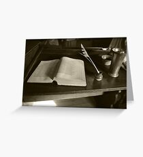 Book and Quill  Greeting Card