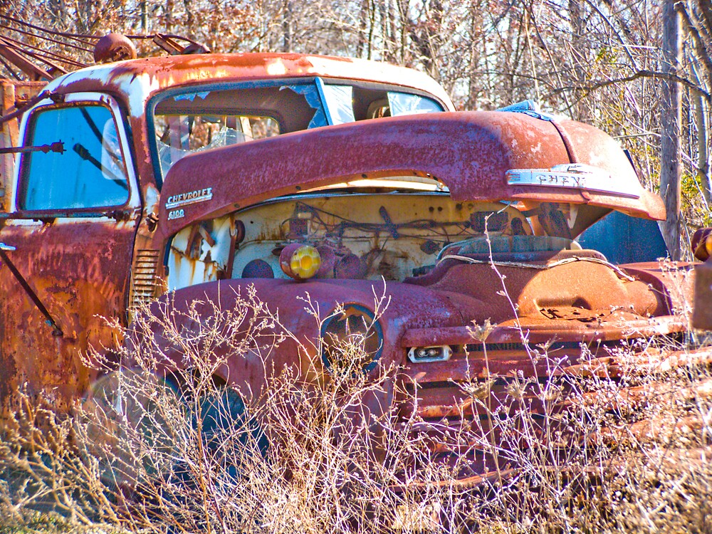 Rusty Truck Series #12 by Rod  Adams