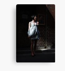 Her Day Is A Silver Frock Canvas Print
