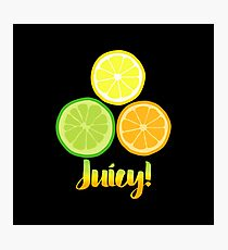 Fun Juicy Orange Lime Lemon citrus art Photographic Print
