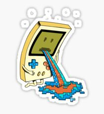 Gamer Vomit pixel Sticker