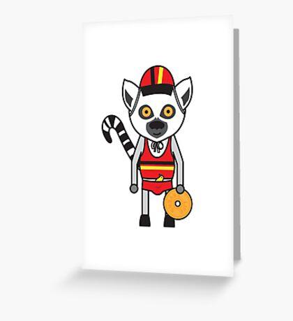 Lemur Lifeguard Greeting Card