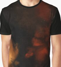 Red and Orange Galaxy Graphic T-Shirt