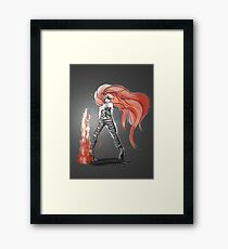 Rainbow Punk: Flame Funk Framed Print