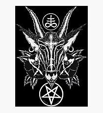 Baphoment and Satanic Symbols Photographic Print