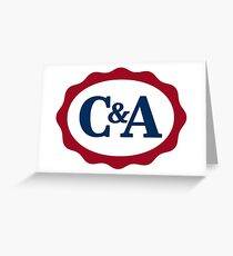 C & A 80's British High Street Department Store Logo Greeting Card