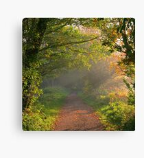 Misty Morning on the Lea Valley Way Canvas Print