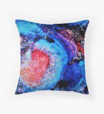 Ocean Meets Sunset Abstract Throw Pillow