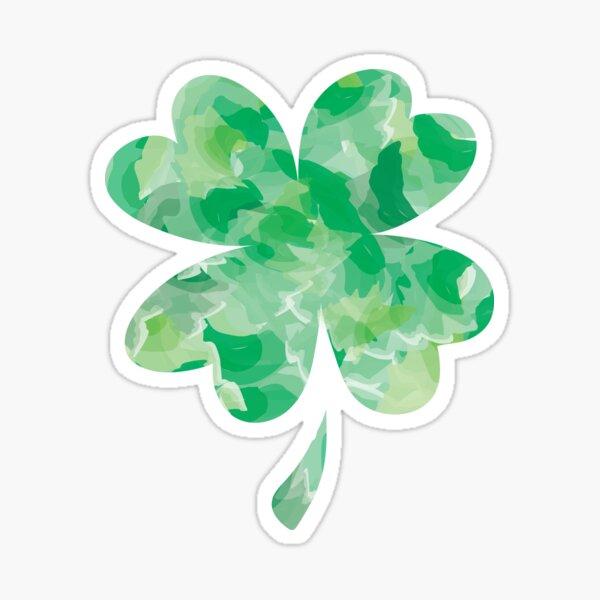 Shamrock vinyl decal//sticker flower 4 leaf clover lucky Irish good luck charm