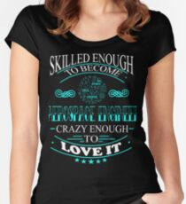 aerospace engineer - crazy enough Women's Fitted Scoop T-Shirt