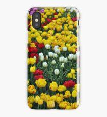 Colorful spring tulips garden iPhone Case/Skin