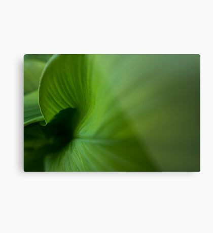 Wave of Green Metal Print