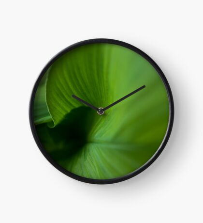 Wave of Green Clock