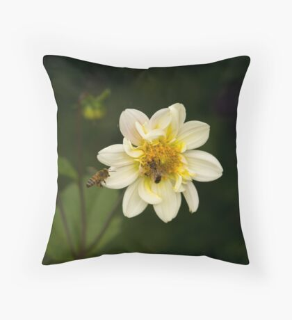 Two Bees or not Two Bees Throw Pillow