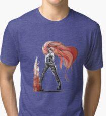 Rainbow Punk: Flame Funk Tri-blend T-Shirt