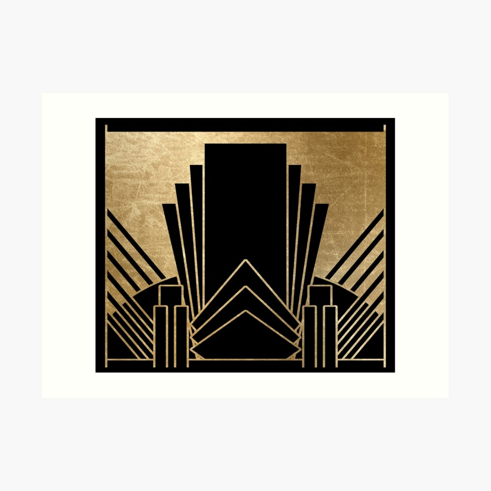 Art-Deco-Design Kunstdruck