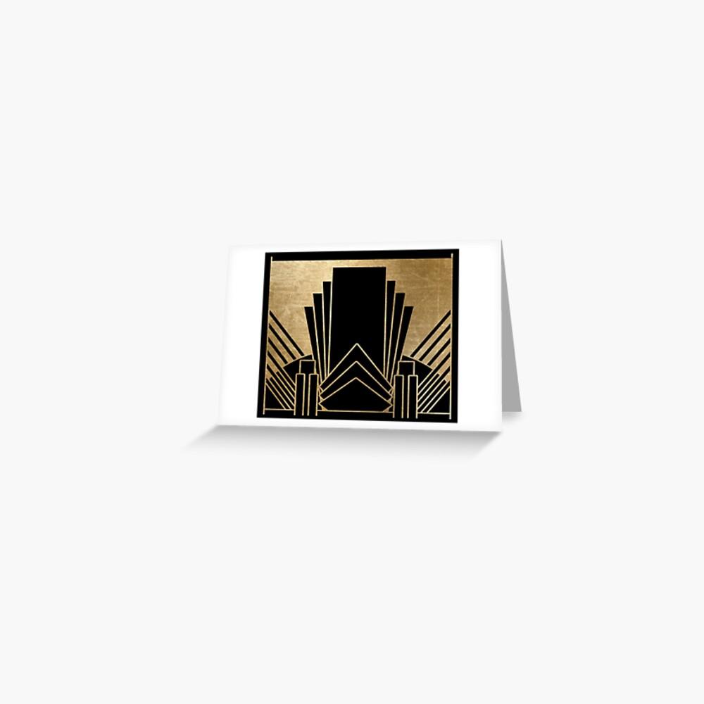 Art-Deco-Design Grußkarte