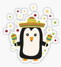 Penguin Mexico Fiesta Rz87f Sticker