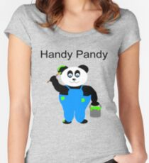 Handy Pandy Women's Fitted Scoop T-Shirt