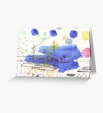 Two Kayaks on the Bay Greeting Card