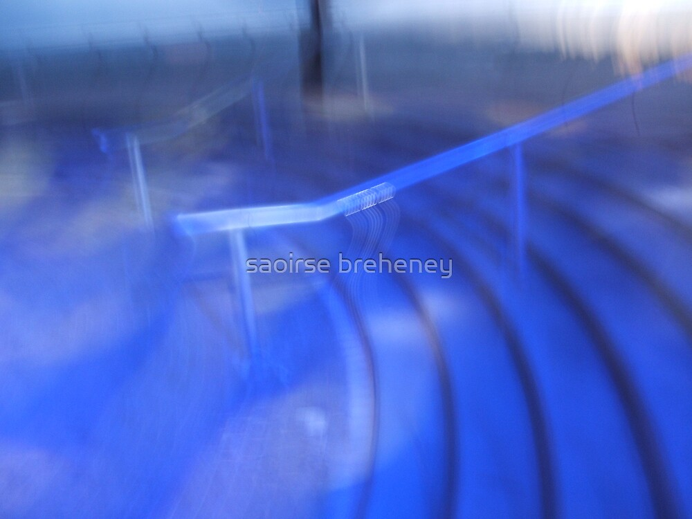 blue stairs. by saoirse breheney