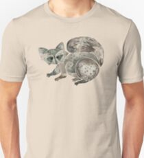 Raccoon – Warm Grey Palette Unisex T-Shirt