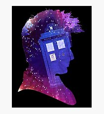 The Tenth Doctor Silhouette with TARDIS Photographic Print