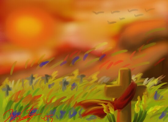 Sunset on Martyr's Field by JYC00kami