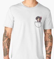 Anime Girl In Pocket Men's Premium T-Shirt