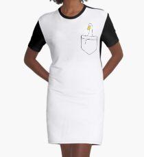 Pocket Duck Graphic T-Shirt Dress