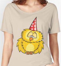 Owl Cartoon Theme Women's Relaxed Fit T-Shirt
