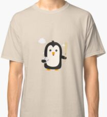 Penguin Baseball Player with Ball Rv6qq Classic T-Shirt