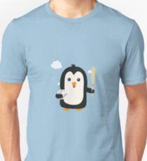 Penguin Baseball Player with Ball Rv6qq Unisex T-Shirt