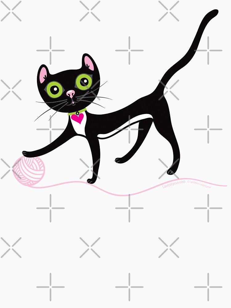 Cat with Yarn by Lyuda