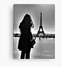 Eiffel tower, women, Paris Canvas Print