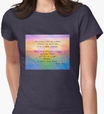 Come Fly with Me to Neverland Womens Fitted T-Shirt
