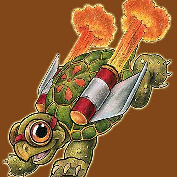 Rocket Tortoise! by SharpTattoos