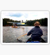 Paddling Toward the Beaver Sticker