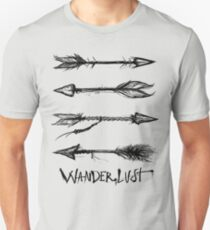 Wanderlust Arrows *coal black* Unisex T-Shirt