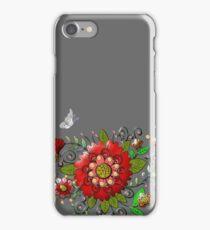 Butterflies and fuschia iPhone Case/Skin