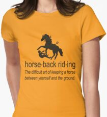 horseback riding accident Women's Fitted T-Shirt
