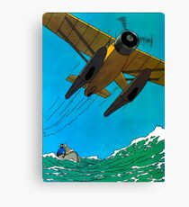 Tintin Airplane Print Canvas Print