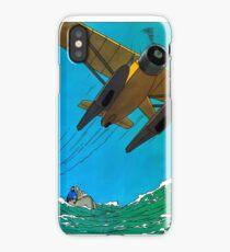 Tintin Airplane Print iPhone Case/Skin