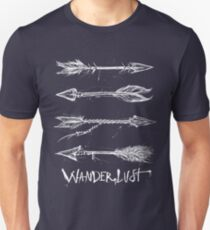Wanderlust Arrows *mist white* Unisex T-Shirt
